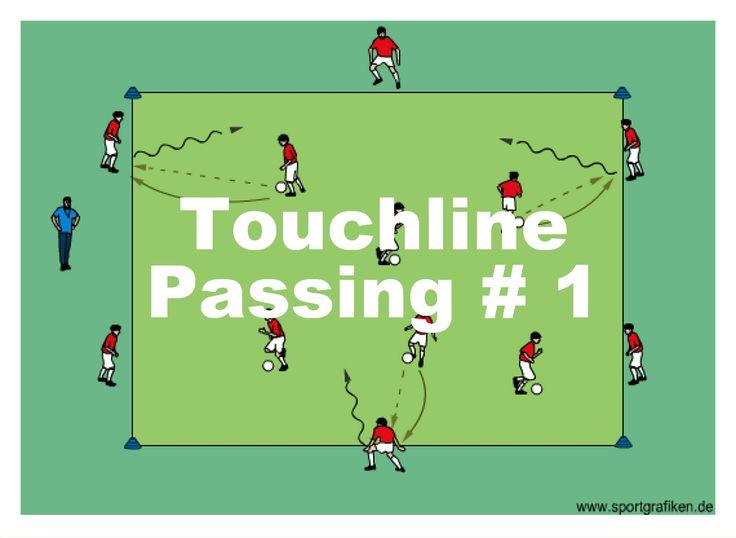 http://www.top-soccer-drills.com/touchline-passing--1.html #Soccer #Passing #Drill #SoccerPassingDrill