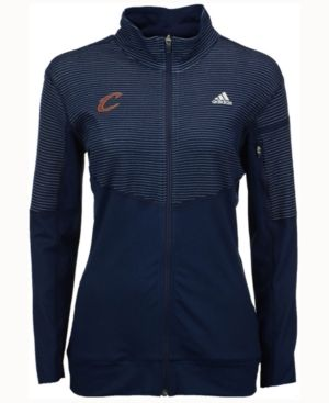 adidas Women's Cleveland Cavaliers Team Logo Jacket - Blue L