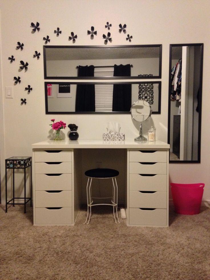 16 best Makeup station ideas images on Pinterest | Bedroom ... on Makeup Room Design  id=31870