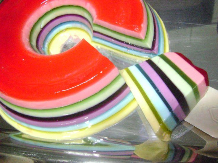 Receita de Receita de Gelatina colorida em camadas