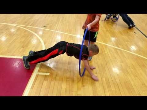 PE Activities :Elementary physical education core strength warm-up - YouTube