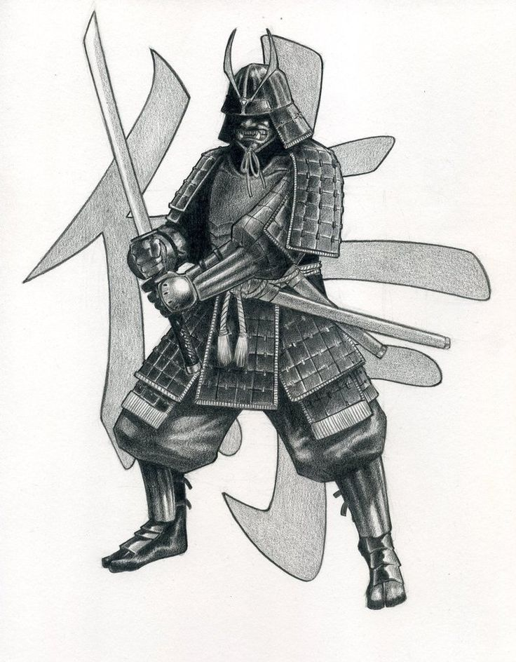 Картинки рисунки самураи