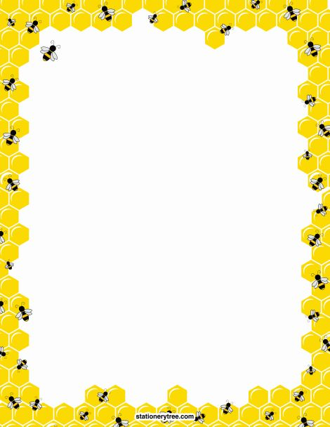 Printable bee stationery and writing paper. Free PDF downloads at http://stationerytree.com/download/bee-stationery/.