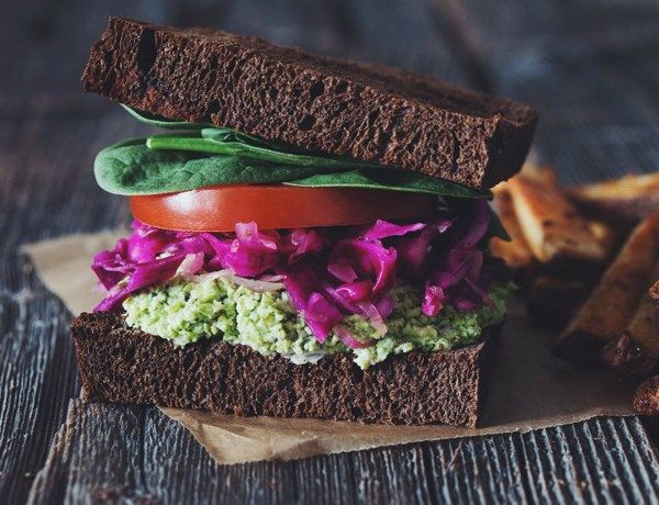 Edamame Mash Sandwiches
