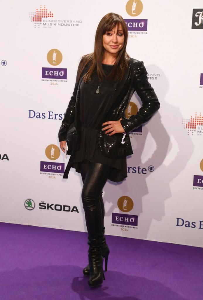 Simone Thomalla attends the Echo award 2014 | leather ...