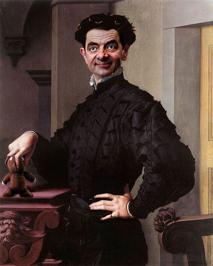 Rowan Atkinson, the actor behind the famously hilarious Mr. Bean and Blackadder characters, has made another foray into the pages of history thanks to caricature artist Rodney Pike. He took some of history's most famous portraits and jazzed them up by replacing the original subjects' faces with those of Atkinson's unforgettable characters.