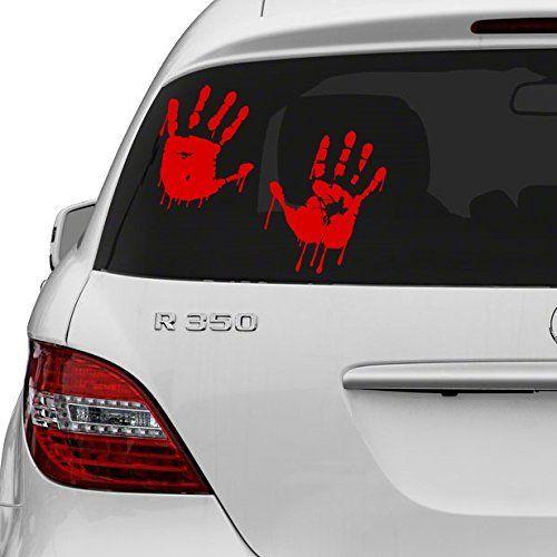 20 x 13 cm) en vinyle Rouge Bloody mains Motif Vampire Blood main Art Decor Sticker/Autocollant pour voiture Motif Walking Dead sans hasard…