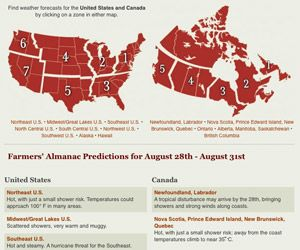Long Range Weather Forecast for the U.S. & Canada from the Farmers' Almanac