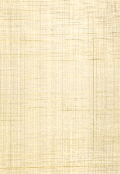 Schumacher Brushed Plaid Wallcovering in White Gold