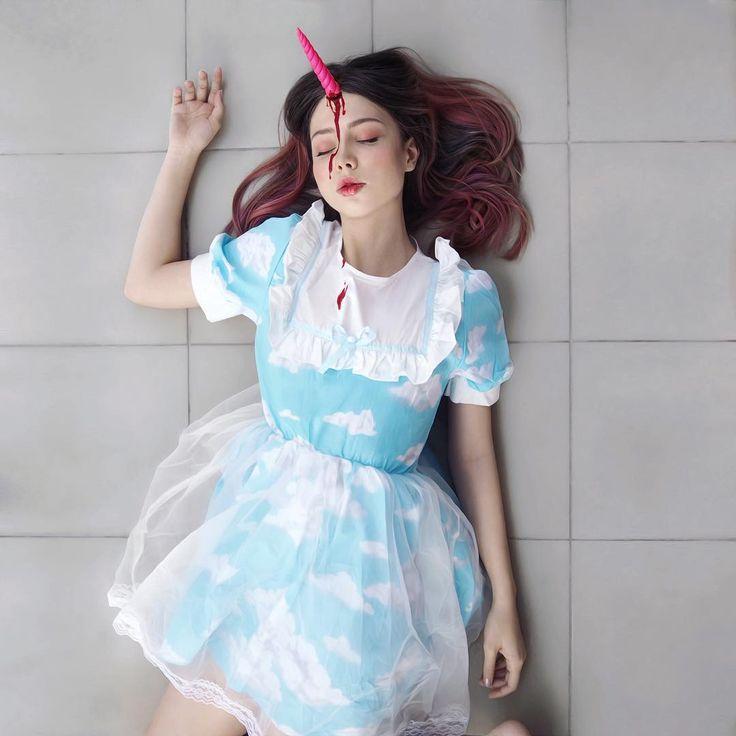 #repost WOW! The makeup is amaizing @sheidlina !!! Cool! #devilinspired #devilinspiredofficial #lolita #costume #lolitafashion