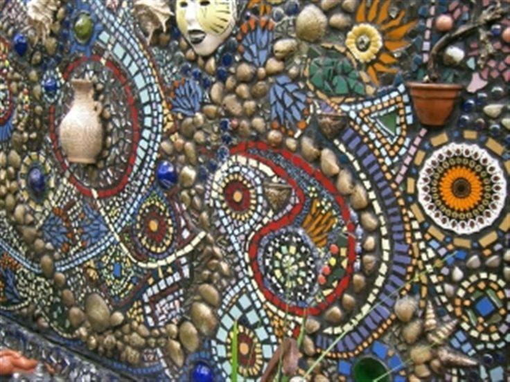 mosaic garden wall mosaics pinterest