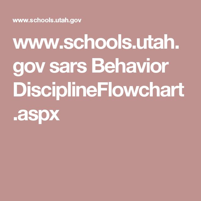 www.schools.utah.gov sars Behavior DisciplineFlowchart.aspx