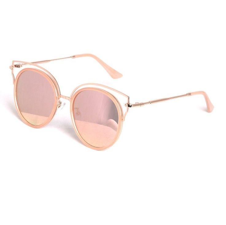AYF Women Fashion Sunglasses Cateye Mirror Glasses Vintage Retro Round Sunglass #AYF #CatEye