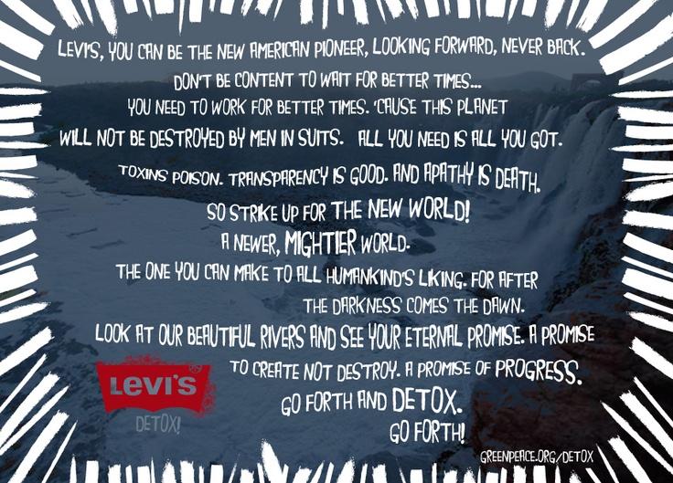 Tell Levi's to walk the talk!