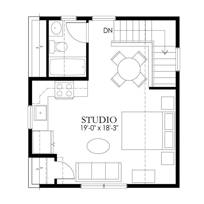 17 best images about apartments on pinterest patron for Garage studio plans
