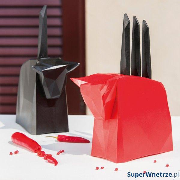 Nowoczesny zestaw noży na stojaku marki Koziol.  Nr katalogowy: KZ-2995526
