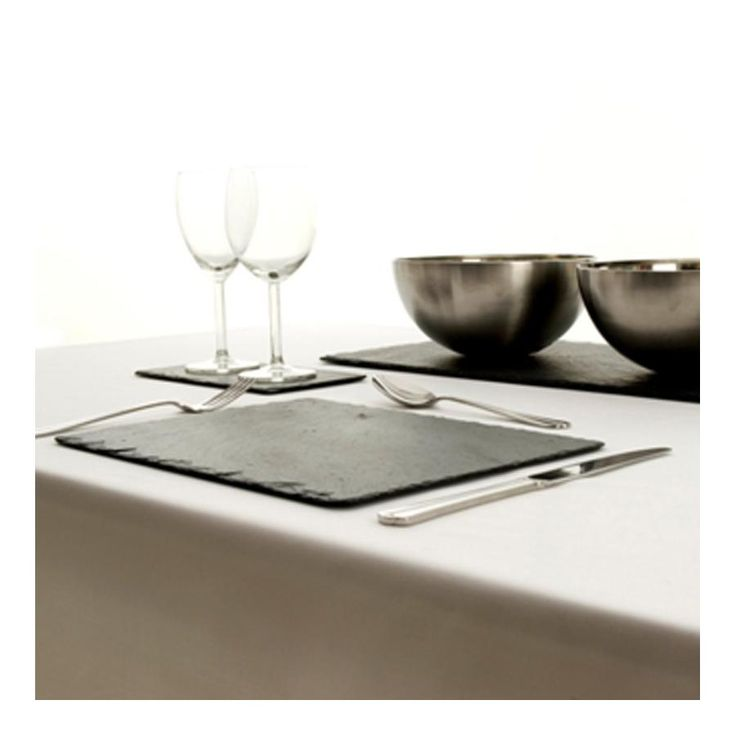 Slate Rectangle Placemats x 2. [Salcombe Trading] $38