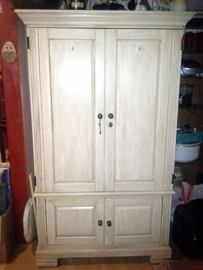 Repurposed Tv Armoire to Pantry