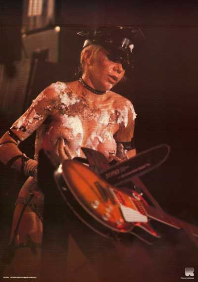 Wendy O Williams Chainsaw Chanteuse Original 80's Music Poster 23x33