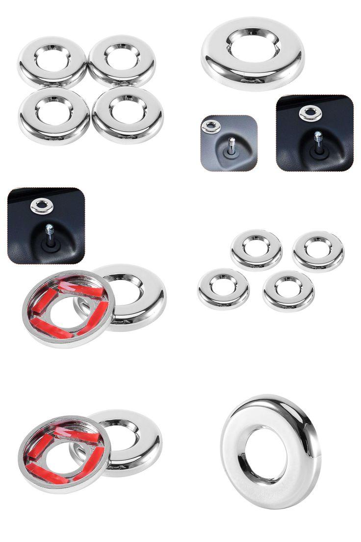 [Visit to Buy] 4PCS/Set Chrome Door Lock Trim Cover For Jeep Patriot For Dodge Journey Compass 2007-2015 #Advertisement