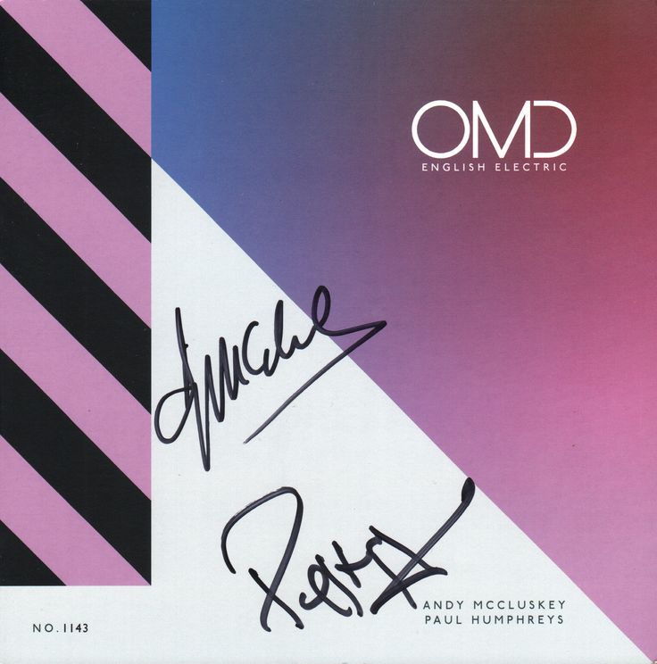 OMD English Electric limited edition box set numbered insert signed by Paul Humpreys & Andy McCluskey