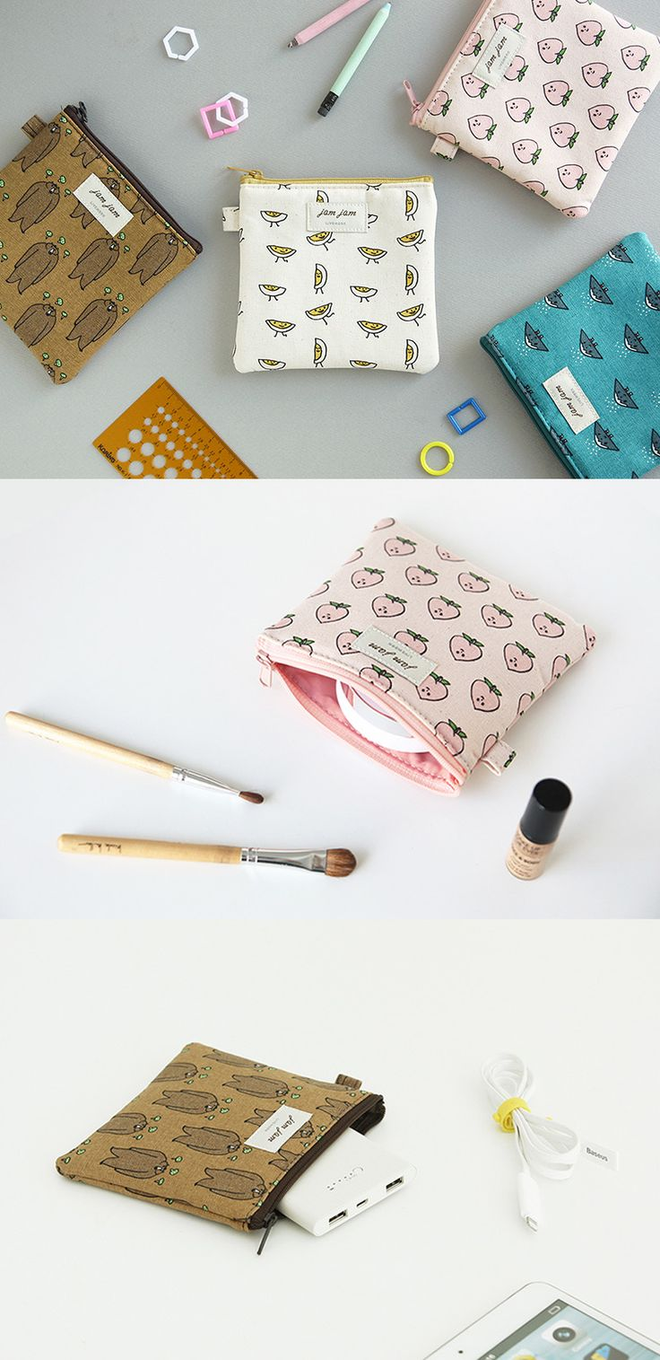 The fun designs on the fabric will catch anyone's eye but the JAM JAM Mini Pouch is just as helpful as it is cute! Use it as an addition to your purse to help separate and organize your belongings or on it's own as a small clutch containing your valuables securely with a zipper. The pouch can hold cosmetics or first aid items and the padding inside will protect your phone or electronics!