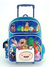 """Adventure Time Large 16"""""""" Rolling Backpack - Blue"""