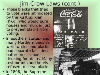This is a basic PowerPoint gives an overview of the Civil Rights Movement from Reconstruction to Emmett Till to the Assassination of Martin Luther King