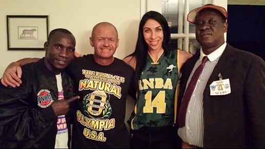 INBA Olympia meet the Pros party. Mr Uganda, Flexr6, PNBA Pro Rose Black & Lamex Omara Apitta!