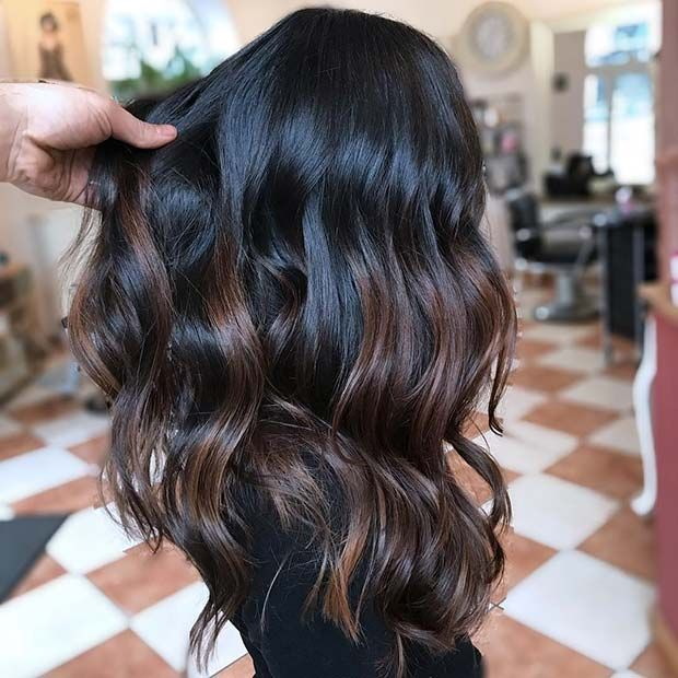 23 Different Ways To Rock Dark Brown Hair With Highlights Page 2 Of 2 Stayglam Highlights For Dark Brown Hair Hair Highlights Brown Hair Balayage