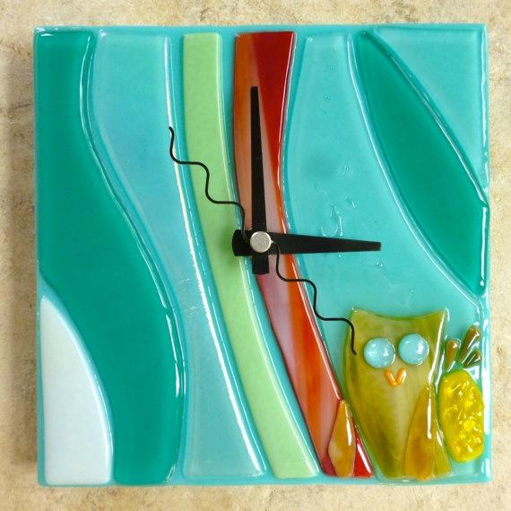 Create a Custom Order Clock Owl Pineapple Wave by shellybatha, $120.00