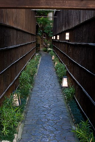 Back alley in Kyoto, Japan