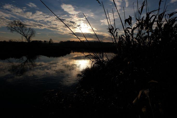 Liwiec River sunset