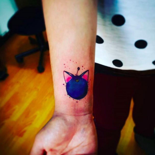 """This cool tattoo of Luna-P: 