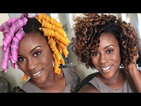 Curl Formers Tutorial Iknowlee Youtube Natural Hair