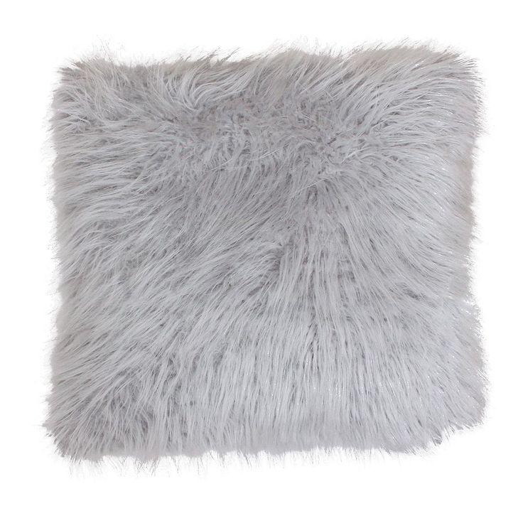 Thro by Marlo Lorenz Keller Faux-Fur Throw Pillow, Grey