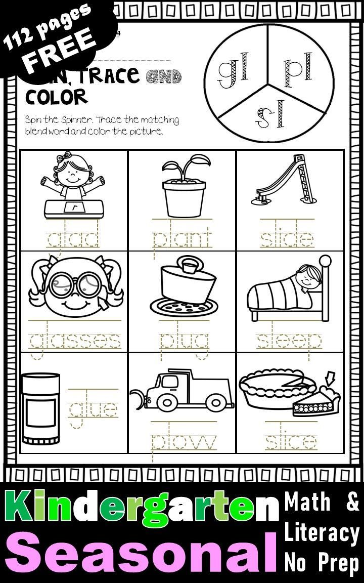 Free Kindergarten Seasonal Activities And Worksheets Math Literacy Pack Bundle Math Literacy Literacy Printables Free Math Ready to go fall literacy pack
