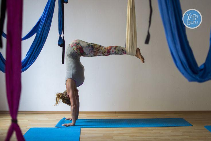 Hamaky na aero jógu v českobudějovickém studiu Think Yoga: růžová, světle modrá a smetanová. Jakou byste si domů přáli vy? Vyberte si tady - http://www.yogaguru.cz/cs/hamaky/hamaka-pro-dospele.