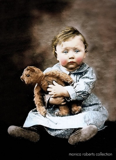 wee laddie and his well loved teddy ... ca. 1905: Posts Cards, Crafts With Vintage Photo, Vintage Photos, Vintage Children, Antiques Bears, Baby, Children Photo, Vintage Teddy Bears, Kid