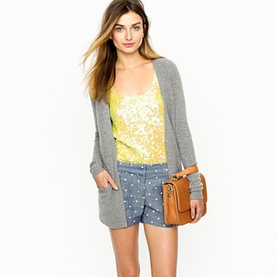 jcrew springFashion, Summer Outfit, Style, Closets, J Crew, Jcrew, Polkadot Shorts, Denim Shorts, Polka Dots Shorts