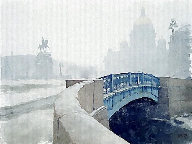 Blue bridge, St. Petersburg | Vitaly Shchukin