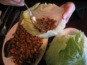 This is the REAL P. F. Chang's Chicken Lettuce Wrap copy cat recipe, at least in my opinion. The other one I listed is pretty good, but this one was spot on. My boyfriend and I devoured an entire dish of this in minutes flat!