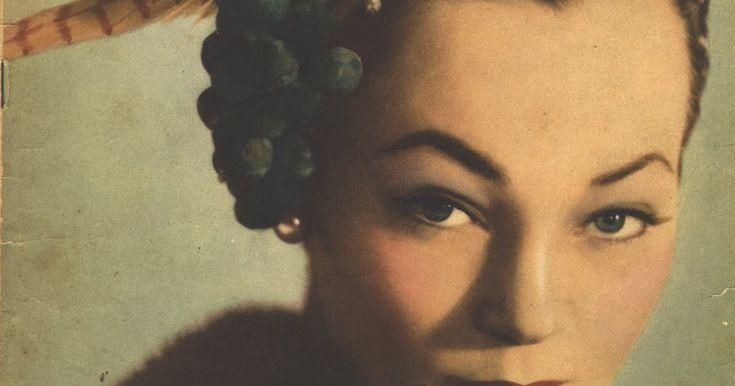 Publicitando um chapéu de Rose Valois, a beleza pura de uma capa da revista Eva de 1951.