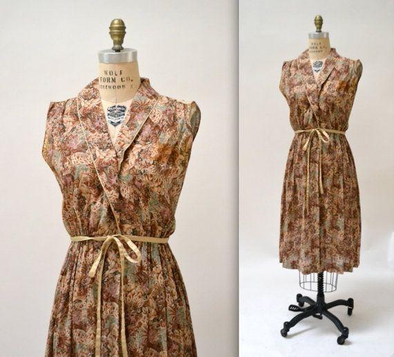 1950s Vintage Dress Cotton Shirt Dress With by Hookedonhoney