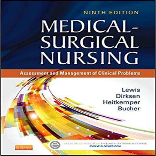 Medical Surgical Nursing 9th Edition Lewis Dirksen