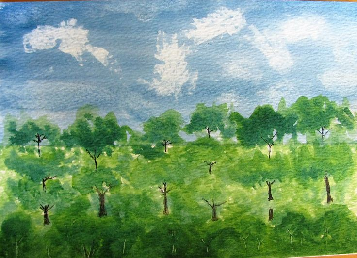 Water colour - trees