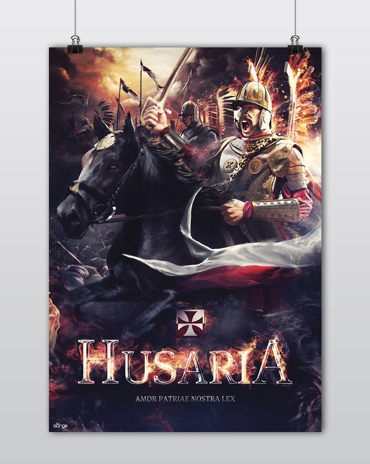 Plakat patriotyczny Husaria  Sklep z koszulkami Polski i odzieżą patriotyczną ● Surge Polonia Przepnij pina! Pomóż nam promować ideę nowoczesnego patriotyzmu!