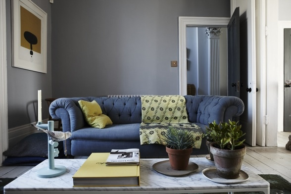 Wonderful green and blue living space. Picture from www.ShootFactory.co.uk Homewood London House