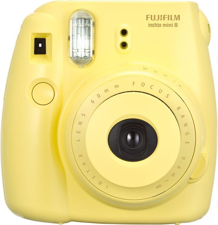 Fujifilm - instax mini 8 Instant Film Camera - Yellow