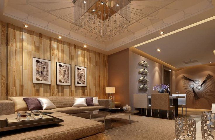 Chinese-style-living-room-wooden-wall